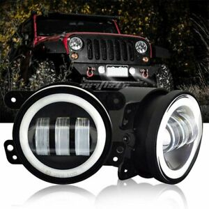 2p 4inch Round Led Fog Lights Driving Lamp Drl Front Bumper Tractor For 4x4 Suv