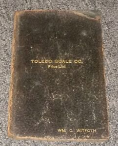 Toledo Scale Company Leather Price List Guide Book Cover Employee Antique Promo