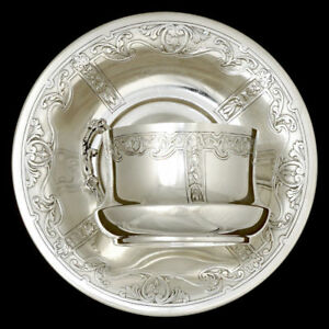 Antique French Sterling Silver Coffee Tea Cup Saucer Set 950 1000