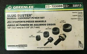 Greenlee Slug Buster Manual Knockout Punch Kit 7235bb U0135