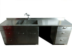 Custom Made 96 Stainless Steel Counter With Built In Sink