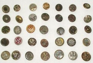 Lot A 35 Antique Victorian Metal Buttons