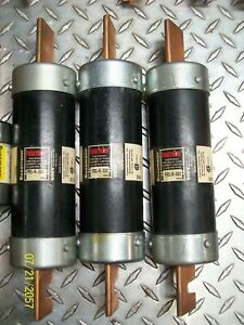 Lot Of 3 Bussman Fusetron Frs r 300 300 Amp 600v Time Delay Fuse Frsr300
