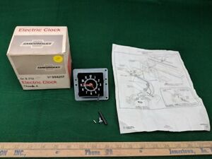 Nos 1972 72 Chevrolet Chevelle Ss Factory Accessory Dash Electric Clock 994107