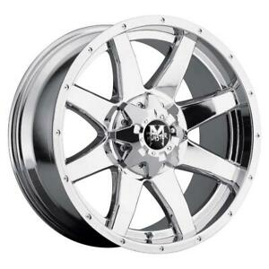 17 Inch 17x9 Offroad Monster M08 Chrome Wheel Rim 5x5 5 5x139 7 0