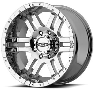 17 Inch Chrome Wheels Rims Moto Metal Mo951 17x9 8x6 5 Lug Hummer H2 Sut New