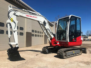 2016 Takeuchi Tb240 Rubber Track Excavator only 436 Hours Cab Ac Diesel Mini
