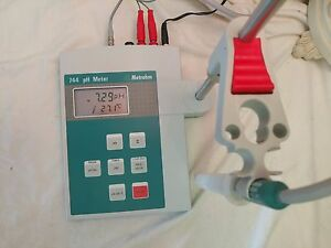 Metrohm 744 Ph Meter With Ph Electrode temp Probe