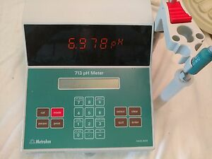 Metrohm 713 Ph Meter With Ph Electrode temp Probe Nos