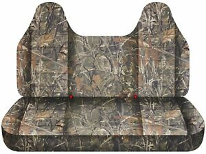 Fits 92 04 Ford F150 Truck Seat Covers Wetlands Camouflage Bench W Molded Hr
