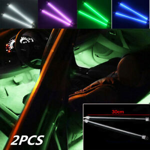 2pcs 12 Car Undercar Underbody Neon Kit Lights Ccfl Cold Cathode Tube 4 Colors