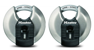 Master Lock Padlock Magnum Stainless Steel Discus 2 3 4 In Wide M40xt pack
