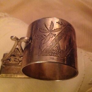 Vintage Rogers Smith Co Napkin Ring No 156 Silver Plate