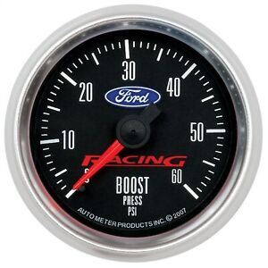 Autometer 880106 Ford Racing Series Mechanical Boost Gauge 2 1 16 0 60 Psi
