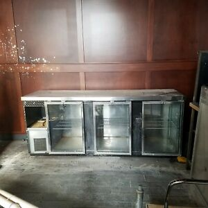 3 Door Glass Bar Cooler