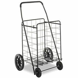 Heavy Duty Shopping Utility Cart Dolly Trolley Collapsible Rolling Wheel Steel
