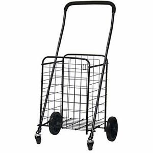 Heavy Duty Utility Shopping Cart Rolling Swivel Wheels Trolley Dolly Steel Frame