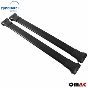 Roof Racks Cross Bars Rails Alu Black Set 2 Pcs For Jeep Cherokee Kl 2014