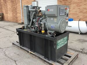 Mtu 50 Kw Diesel Generator 33 Hours John Deere Engine Ready To Go