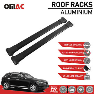 Ford Focus Wagon 2000 2011 Roof Racks Cross Bars Cross Rails Alu Black Set 2pcs