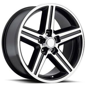 20 Inch 20x8 5 Replica Iroc Black Machined Wheel Rim 5x115 10