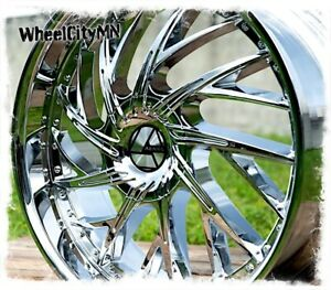 22 Inch Chrome Azara 516 Wheels Fits Chevy Silverado Impala Ss 5x127 5x5 15