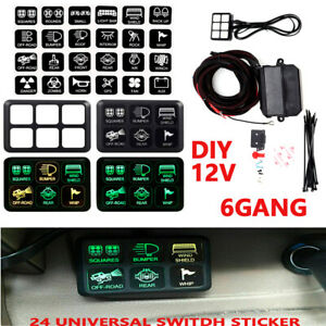6 Led Switch Panel Relay Control Box wiring Harness For Car Truck With 12v Power