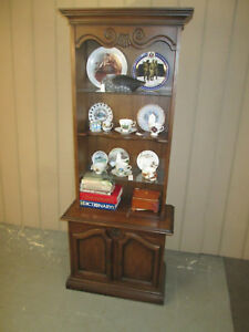 46502 Mahogany Cabinet With Bookcase Top