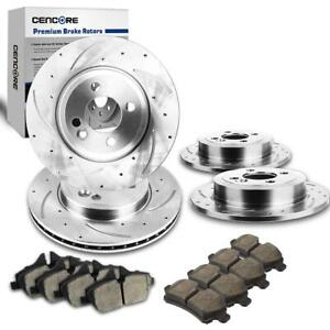 Front And Rear 4 Slotted Brake Rotors 8 Ceramic Pads For 2007 2015 Mini Cooper