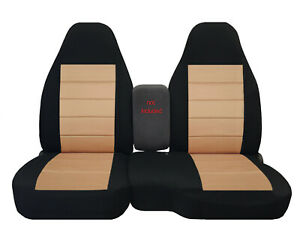 2004 2012 Ford Ranger 60 40 High Back Car Seat Covers Black Tan