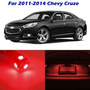 7x For 2011 2014 Chevy Cruze Interior Lights Package Ultra Bright Red Led Bulbs