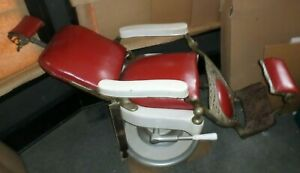 Vintage Antique 1909 Theo A Kochs Barber Chair Original