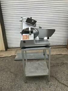 New Bizerba Se12 Deli Commercial Meat Cheese Slicer With Stand Automatic Manual