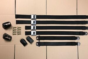 65 66 67 Gm Deluxe Black Carriage Seat Belts Chevelle Gto Lemans Cutlass 442 Gs