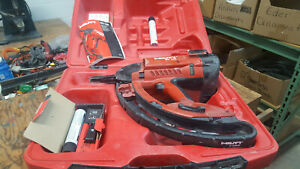 Hilti Gx100 Gas Actuated Power Fastening Nail Gun Track Nailer With Case