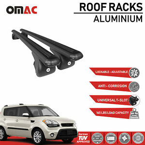 Roof Rack Cross Bars Luggage Carrier Black Set For Kia Soul 2010 2018