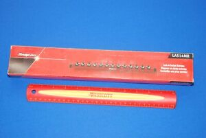 New Snap on 1 4 Drive Metric Red Lock a socket Magnetic Rail Las14mr 4mm 15mm