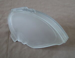 White Frosted Art Nouveau Deco Slip Shade 2 Available Xlnt Condition