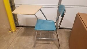 Vintage Melsur School Desk Chair Atomic Retro Mid Century Writing Desk