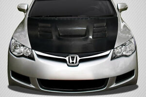 Carbon Creations Dritech Supremo Hood For 2006 2011 Jdm Civic 4dr