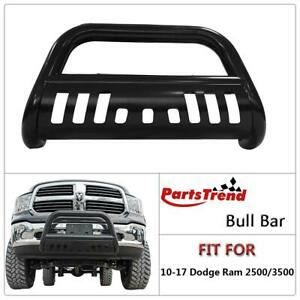 1set 1pc Blk Grille Grill Guard Bull Bar For 2010 To 2017 Dodge Ram 2500 3500