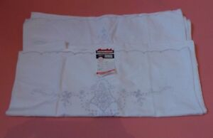 2 Vintage Shanghai Hand Embroidery Cotton Pillowcases