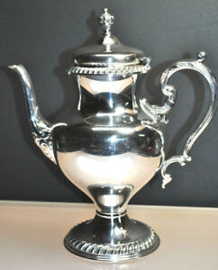 Antique Wilcox International Silver Ashley Silverplate Coffee Tea Pot