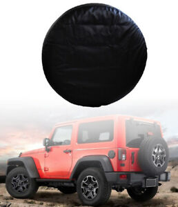 33 Pu Leather Car Spare Tire Tyre Wheel Cover For Jeep Liberty Wrangler Black
