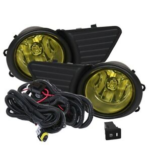 Fit 11 17 Toyota Sienna Front Bumper Fog Lights Amber H11 Bulbs Wiring switch