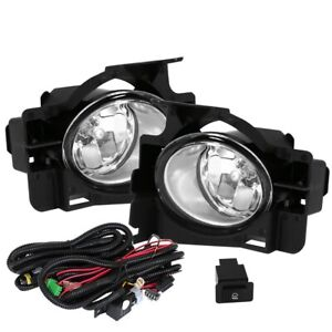 Fit 08 12 Nissan Altima 2 Door Front Fog Lights Clear H11 Bulbs Wiring switch