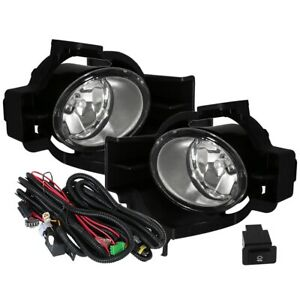 Fit 10 12 Nissan Altima 4 Door Front Bumper Fog Lights Clear H11 Wiring switch