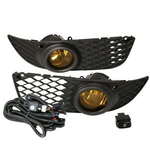 Fit 08 12 Mit Lancer Front Bumper Fog Lights Amber H11 Bulbs Wiring switch
