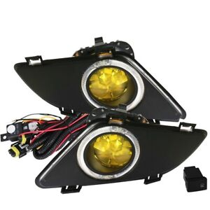 Fit 03 05 Mazda 6 Front Bumper Fog Lights Amber Bulbs Wiring switch