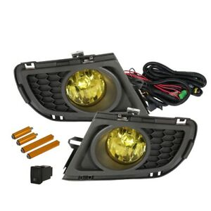 Fit 06 08 Mazda 6 European Front Bumper Fog Lights Amber Bulbs Wiring Switch
